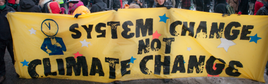 System change not climate change 588 537x170